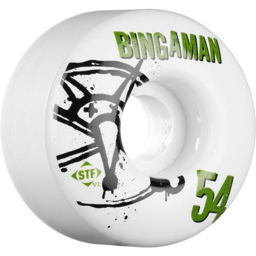 BONES WHEELS STF Pro Bingaman Numbers 54mm 4pk