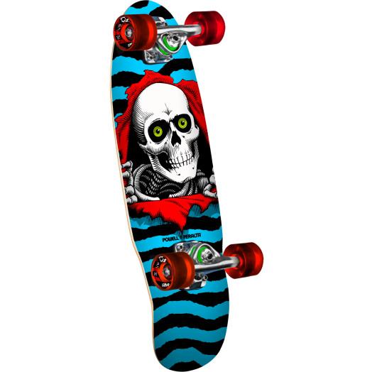 Powell Peralta Mini Ripper Blue Complete Skateboard - 7.5 x 24