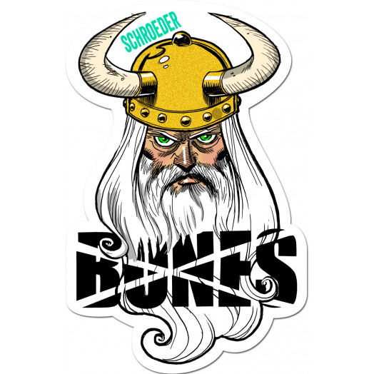 BONES WHEELS Ben Schroeder Viking Sticker Single