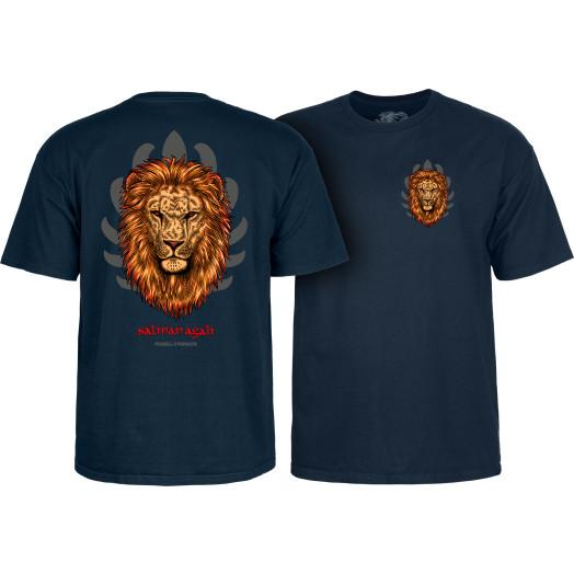 Powell Peralta Salman Agah Lion T-Shirt Navy