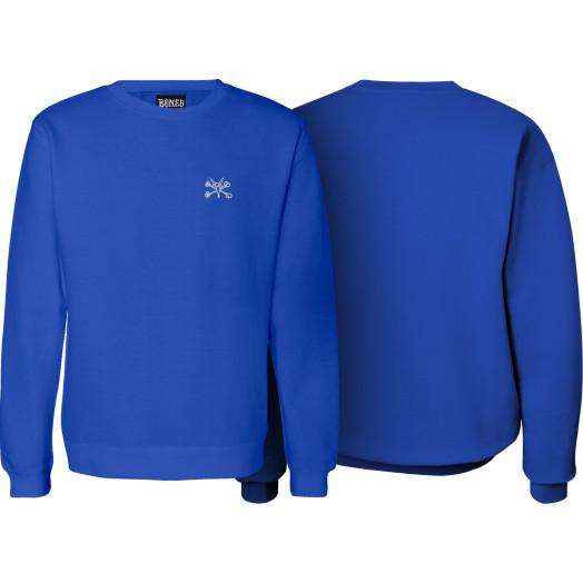 BONES WHEELS Jim Crew Sweatshirt Royal Blue