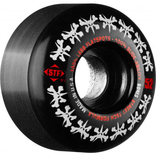 BONES WHEELS STF Rat Pack 52mm - Black (4 pack)