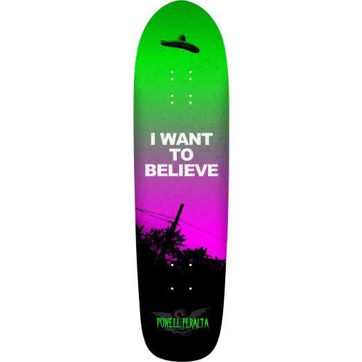Powell Peralta Funshape Believe 3 Skateboard Deck Green/Purple - 8.4 X 31.5