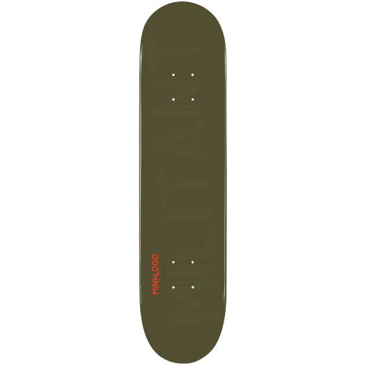 Mini Logo Militant Skateboard Deck 181 Green - 8.5 x 33.5