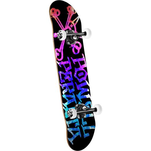 Powell Peralta Vato Rat Paint Skateboard Pink/Blue - 8 x 32.125