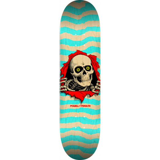Powell Peralta Ripper Skateboard Blem Deck Turquoise - 8 x 31.45