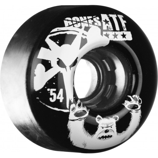 BONES WHEELS ATF Po Bear 54mm Black 4pk