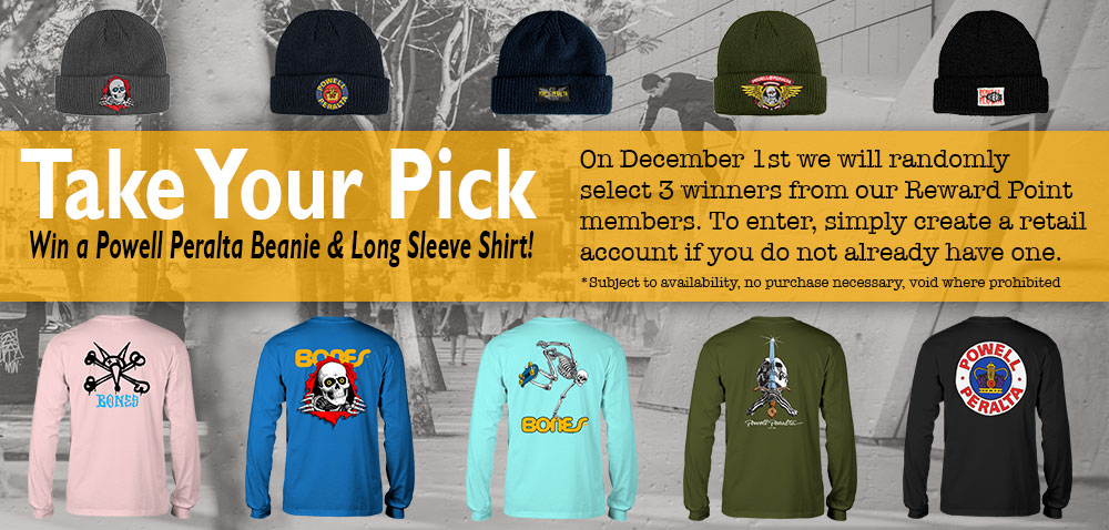 Powell-Peralta Giveaway for Reward Members
