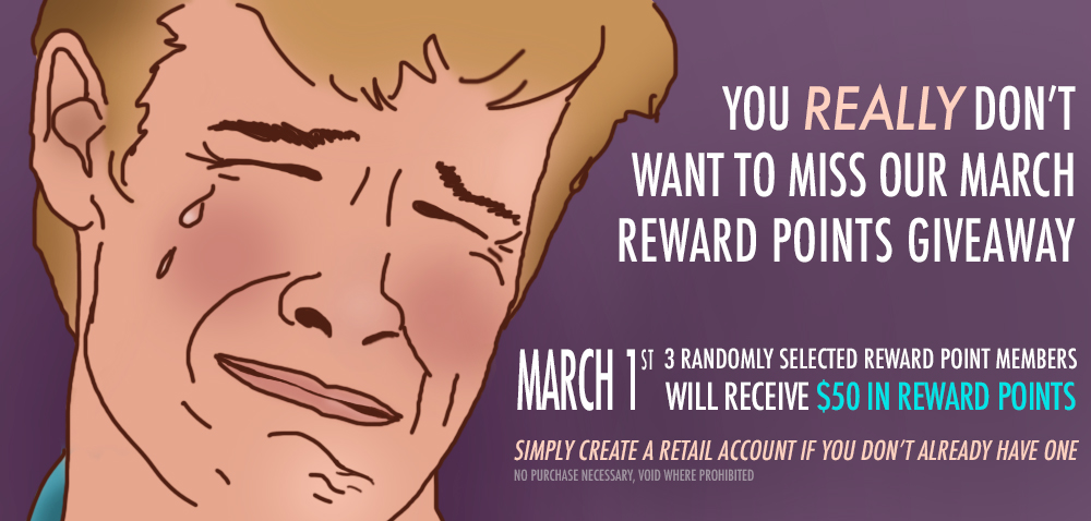 February Reward Points Giveaway