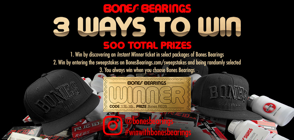Bones Bearings 3 Ways to Win!