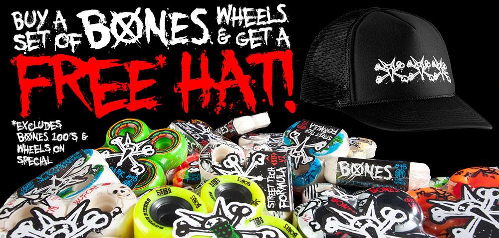 BUY A SET OF BONES WHEELSGET A FREE HAT