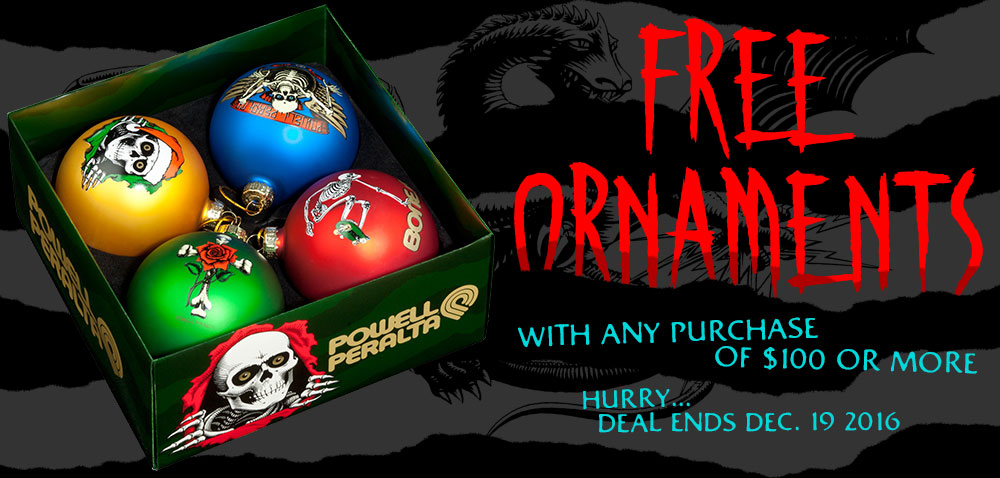 Free Ornaments with $100 purchase