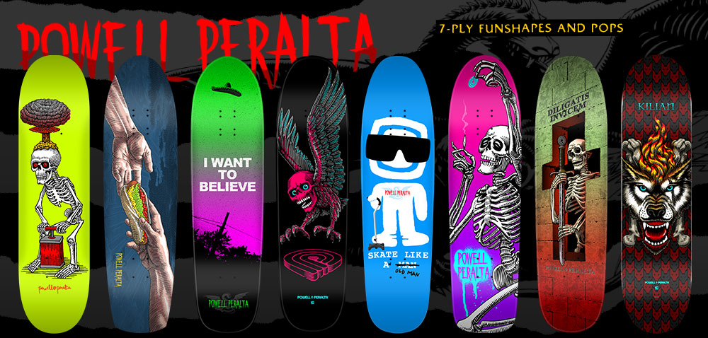 Powell Peralta 7-Ply Funshapes and Pops