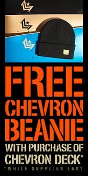 Free Beanie with Mini Logo Chevron Deck Purchase
